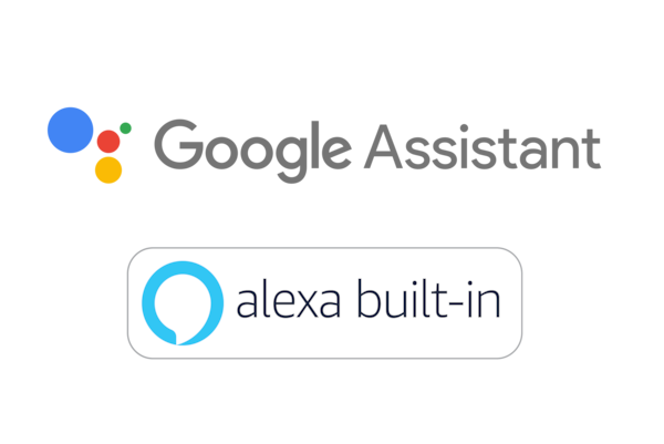 Google Assistant- och Amazon Alexa-logotyper