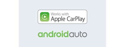 Logotyper för Apple CarPlay och Android Auto