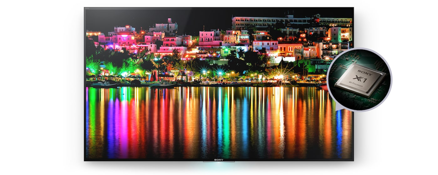 Sony 4K-tv med 4K-processor X1